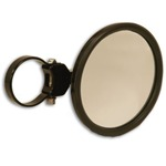 "Black 5"" Round Convex Side Mirror Attachment & Clamp"