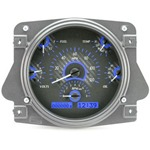 Dakota Digital Dash VHX Carbon Fiber Blue 66-77 Bronco / 61-66 Pickup
