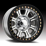 Raceline Monster Beadlock Aluminum Wheel w/ Black Outer Ring