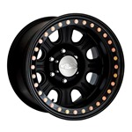 Raceline Monster Beadlock Black Wheel  w/ Black Outer Ring