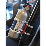 Deluxe Quick Release Fire Extinguisher & Mount Kit - Clear