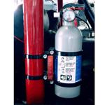 Deluxe Quick Release Fire Extinguisher &amp; Mount Kit - Black 