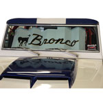 Sun Shade Bronco Script 