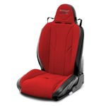 Mastercraft Baja RS Seat w/ Fixed Headrest Left Black with Red Center &amp; Red Side Panels