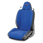 Mastercraft Baja RS Seat w/ Fixed Headrest Left Black with Blue Center &amp; Blue Side Panels
