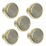 Clear Billet Dash Knob Kit (5 knobs)