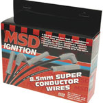 MSD 31193 8.5mm Super Conductor Spark Plug Wire Set BLACK