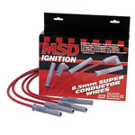 MSD 8.5mm Super Conductor Spark Plug Wire Set RED