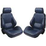 Procar Rally Seats PAIR Blue Vinyl with Sliders