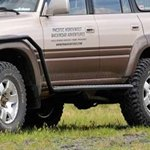 ARB Side Rails With Flares For Toyota Land Cruiser 80 Series