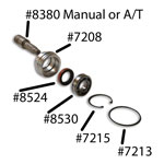 Snap Ring for Dana 20 bearing retainer (large) 3-speed/C4/AOD/NV 3550