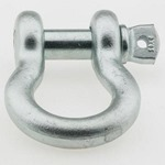 Smittybilt D-Ring Shackle 1/2in Pin 2 Ton Zinc Plate