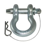 Smittybilt Quick Release D-Ring Shackle 7/8in Pin 6.5 Ton - Zinc