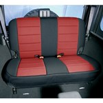 Smittybilt Neo Seat Covers Rear Black/Red 08-12 Wrangler JK 4-Door