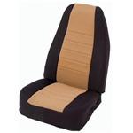 Smittybilt Neo Seat Covers Front Black/Tan 91-95 Wrangler