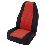 Smittybilt Neo Seat Covers Front Black/Red 76-90 Wrangler