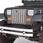 Smittybilt Euro HeadLight & Turn Signal Covers Black 87-95 Wrangler