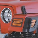 Smittybilt Euro Light Turn Signal/Side Marker Covers Black 97-06 Wrangler