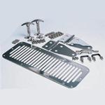 Smittybilt Stainless Complete Hood Kit 76-95 CJ & Wrangler