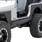 Smittybilt XRC Rock Guards w/ Step Black 76-86 CJ-7