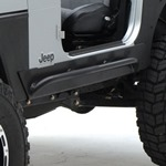 Smittybilt XRC Rock Slider w/o Tube Step Black 97-06 Wrangler