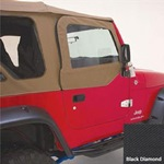 Smittybilt Replacement Upper Door Skins Only Pair Black Diamond 97-06 Wrangler