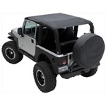 Smittybilt Extended Brief Top Black Diamond 04-06 LJ Wrangler & Rubicon Unlimited