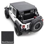 Smittybilt Extended Top Diamond Black 07-09 JK Wrangler & Rubicon 2-Door