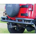 Smittybilt Rear Tube Bumper w/ Hitch Textured Black 07-12 Wrangler JK 2/4-Door