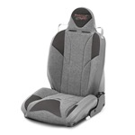 Mastercraft Baja RS DirtSport Seat w/ Adj Headrest Left Smoke with Gray Center & Gray Side Panels