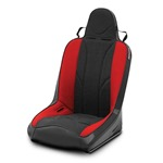 Mastercraft Sportsman Seat w/ Fixed Headrest Black with Black Center & Red Side Panels