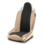 Mastercraft Sportsman Seat w/ Fixed Headrest Tan with Black Center & Brown Side Panels