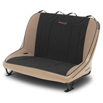 Mastercraft Rubicon Rear Bench Seat 40in 97-02 Jeep TJ Bolt-In - Tan Vinyl & Black/Brown Fabric