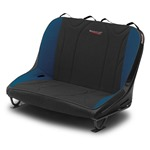 Mastercraft Rubicon Rear Bench Seat 36in 87-95 Jeep YJ Bolt-In - Black Vinyl & Black/Blue Fabric