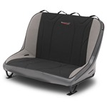 Mastercraft Rubicon Rear Bench Seat 36in 76-86 Jeep CJ Bolt-In - Smoke Vinyl & Black/Gray Fabric