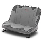 Mastercraft Rubicon DirtSport Bench Seat 36in 76-86 Jeep CJ Bolt-In - Smoke Vinyl & Gray Fabric