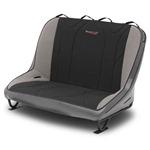 Mastercraft Rubicon Rear Bench Seat 40in 66-77 Bronco Bolt-In - Smoke Vinyl & Black/Gray Fabric