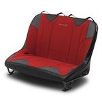Mastercraft Rubicon DirtSport Bench Seat 40in 66-77 Bronco Bolt-In - Black Vinyl & Red Fabric