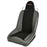 Mastercraft Rubicon Seat w/ Fixed Headrest 76-UP Jeep Smoke with Black Center & Gray Side Panels