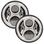 "SPEAKER 8700 Evolution 7"" LED Headlights Chrome Finish"