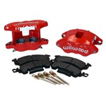 Wilwood Front Disc Brake Calipers Set Red Powder Coated