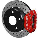 Wilwood Dynapro Lug Mount Rear Parking Brake Kit 76-77 Bronco 15in Wheels Red Drilled