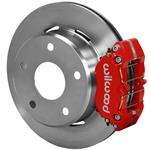 Wilwood Dynapro Lug Mount Rear Parking Brake Kit 76-77 Bronco 15in Wheels Red