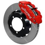 Wilwood Superlite 4R Big Brake Front Brake Kit 76-77 Bronco D44 18in Wheels Red w/ Lines
