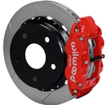 Wilwood Superlite 4R Big Brake Rear Parking Brake Kit 66-75 Small Bearing Bronco 18in Wheels Red