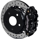 Wilwood Superlite 4R Big Brake Rear Parking Brake Kit 66-75 Small Bearing Bronco 18in Wheels Drilled