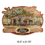 Laid Back Dream Garage Ford Embossed Sign 15.5 x 21.75