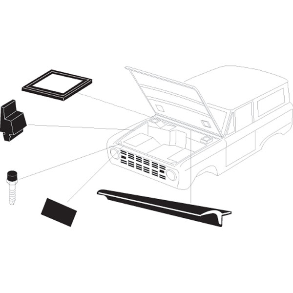 buy under hood master rubber  u0026 weather stripping kit