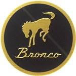 Bucking Bronco Round Emblem