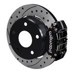 Wilwood Dynapro Lug Mount Rear Parking Brake Kit 74-75 Medium Duty Ford Bronco 15in Wheel Drilled Bl